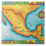 Map of Mexico Ceramic Tiles