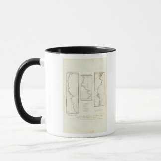 Map of Mexico City to Santa Fe New Mexico Mug