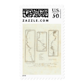 Map of Mexico City to Santa Fe New Mexico Postage