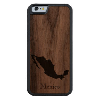 Map of Mexico: Classic Design Carved Walnut iPhone 6 Bumper Case