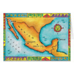 Map of Mexico Greeting Card