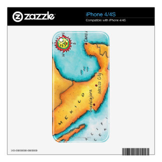 Map of Mexico iPhone 4S Skin