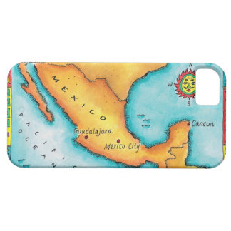 Map of Mexico iPhone SE/5/5s Case