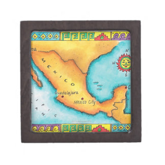 Map of Mexico Jewelry Box
