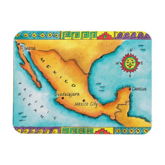 Map of Mexico Magnet