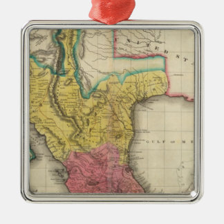 Map Of Mexico Metal Ornament