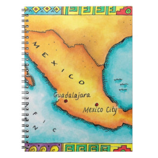 Map of Mexico Notebook