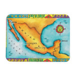 Map of Mexico Rectangle Magnets