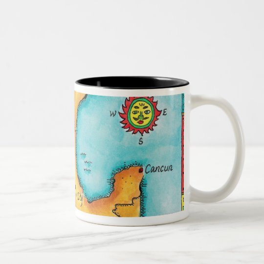 Map of Mexico Two-Tone Coffee Mug