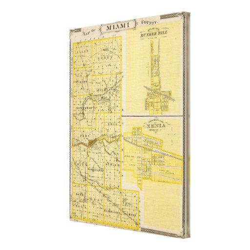 Map of Miami County Gallery Wrapped Canvas