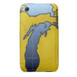 Map of Michigan 2 Case-Mate iPhone 3 Cases