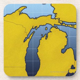 Map of Michigan 2 Coaster