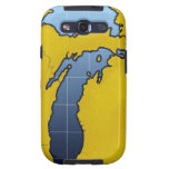 Map of Michigan 2 Galaxy S3 Cases