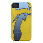 Map of Michigan 2 iPhone 4 Covers