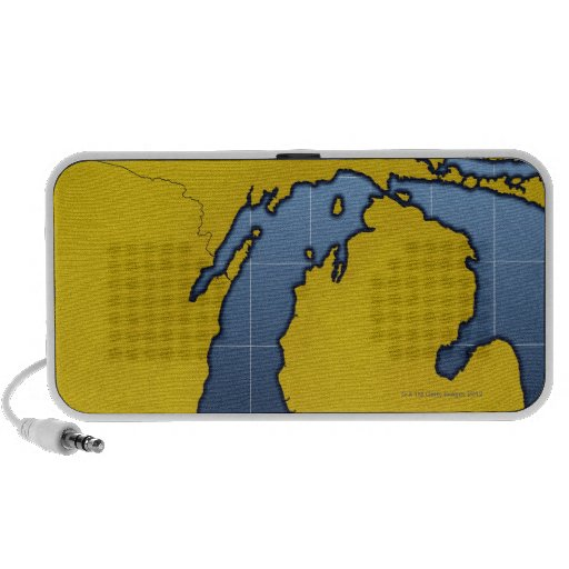 Map of Michigan 2 PC Speakers