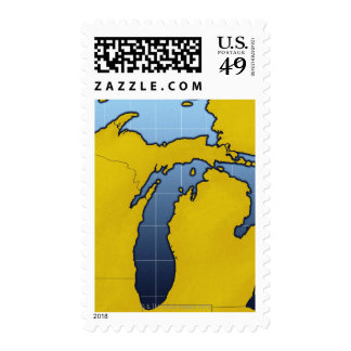 Map of Michigan 2 Stamps
