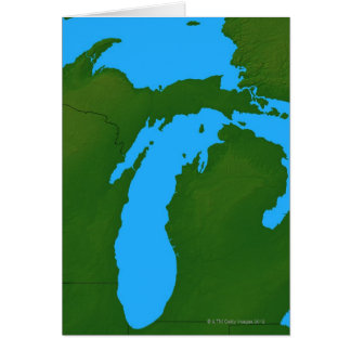 Map of Michigan 3 Greeting Card