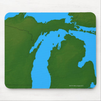 Map of Michigan 3 Mouse Pad