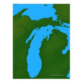 Map of Michigan 3 Postcard