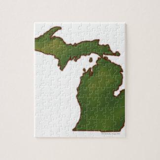 Map of Michigan 4 Jigsaw Puzzle