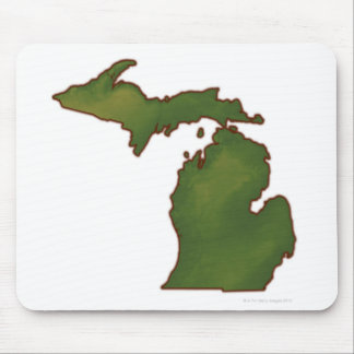 Map of Michigan 4 Mouse Pad