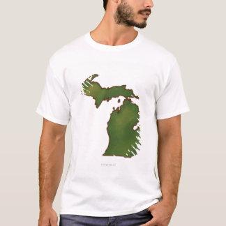 Map of Michigan 4 T-Shirt