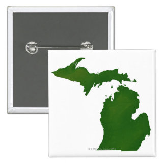 Map of Michigan Button