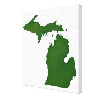 Map of Michigan Canvas Print