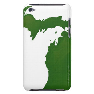 Map of Michigan Case-Mate iPod Touch Case