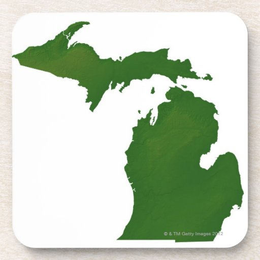 Map of Michigan Coaster