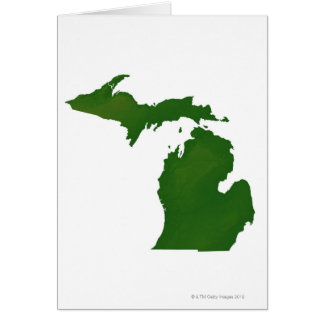 Map of Michigan Greeting Cards