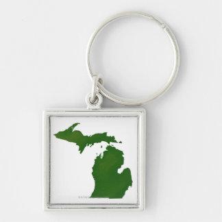 Map of Michigan Keychain