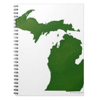 Map of Michigan Notebook
