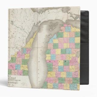 Map of Michigan & Part Of Wisconsin Territory 3 Ring Binders