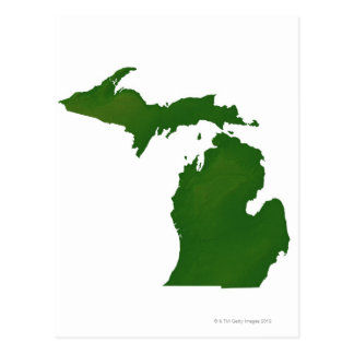 Map of Michigan Post Cards