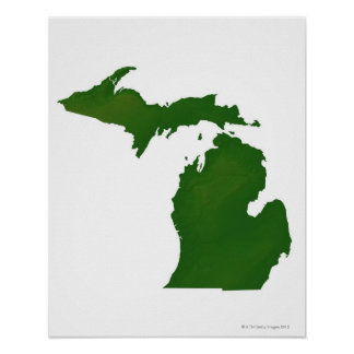 Map of Michigan Poster