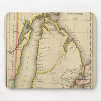 Map Of Michigan Territory Mouse Pad