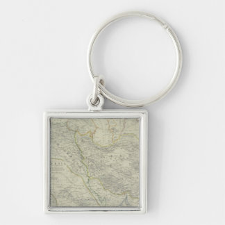 Map of Middle East Key Chain