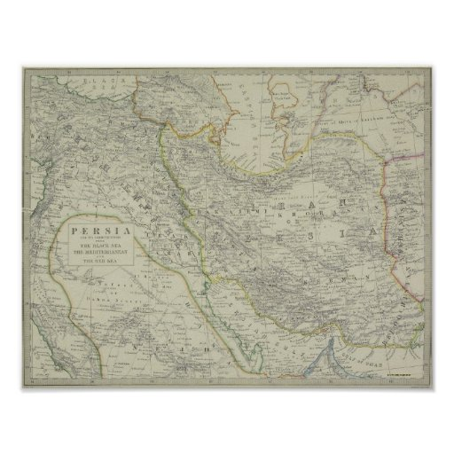 Map of Middle East Posters
