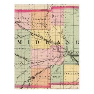 Map of Midland County, Michigan Postcard