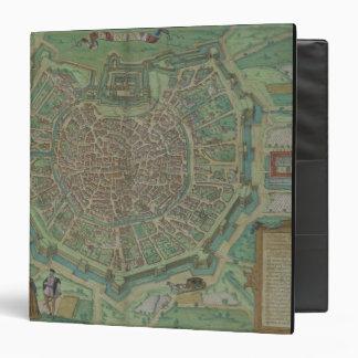 Map of Milan, from 'Civitates Orbis Terrarum' by G 3 Ring Binder