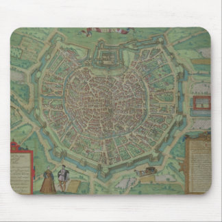 Map of Milan, from 'Civitates Orbis Terrarum' by G Mouse Pad
