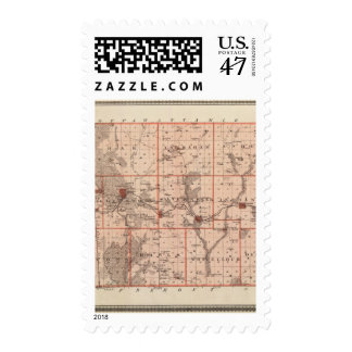 Map of Mills County, State of Iowa Postage