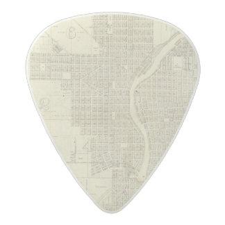 Map of Milwaukee Acetal Guitar Pick