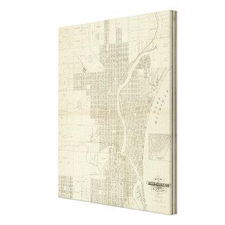 Map of Milwaukee Canvas Print