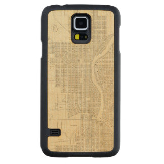 Map of Milwaukee Carved® Maple Galaxy S5 Case
