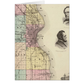 Map of Milwaukee County, State of Wisconsin Greeting Cards