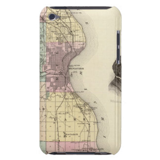 Map of Milwaukee County, State of Wisconsin iPod Touch Case