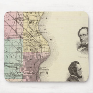 Map of Milwaukee County, State of Wisconsin Mouse Pad