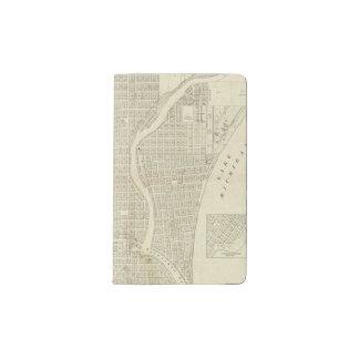 Map of Milwaukee Pocket Moleskine Notebook
